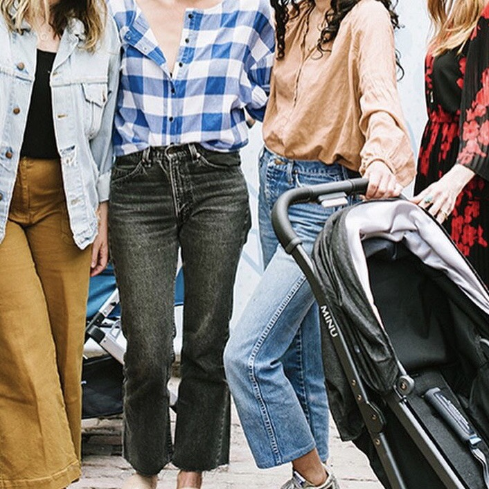 group of stylish mum friends